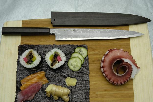 Kansui Suminagashi Right-Handed Yanagiba (Sashimi Knife) - 270mm - with saya