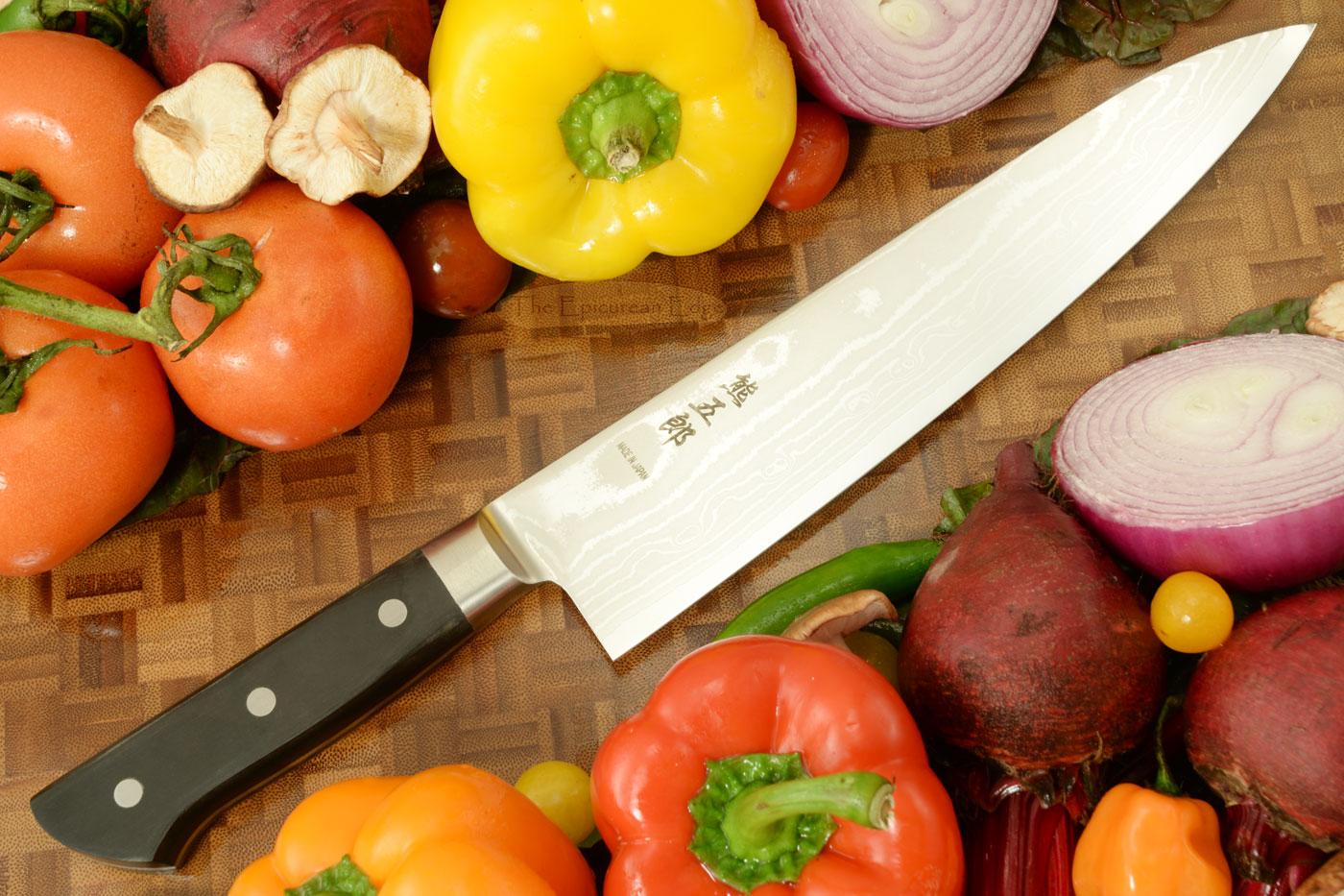Kumagoro Suminagashi, San Mai Damascus Chef Knife - Gyuto - 9 1/2 in. (240mm)