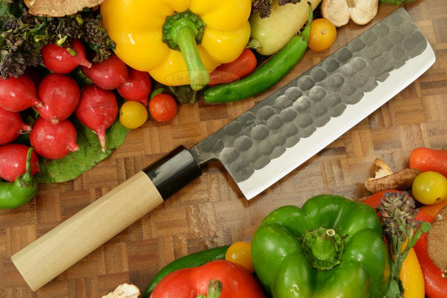 Kumagoro Hammer Finish Vegetable Knife - Nakiri - 165mm (6 2/3 in.)
