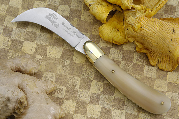 Folding Mushroom Knife, Light Horn Tip