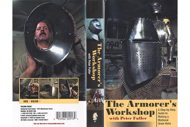 Armorer's Workshop : A Step-by Step Guide to Making a Medieval Great Helm (VHS) by Peter Fuller
