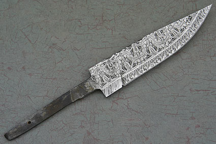 Filigree Damascus Blade (4 1/2 in)