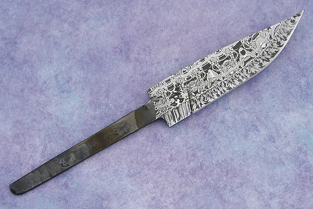 Filigree Damascus Blade (3 3/4 in)