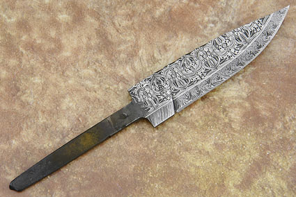 Filigree Damascus Blade (4 in)