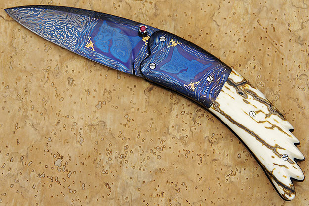 Tragedy<br><i>Best Damascus - Blade Show - Atlanta 2006<i>