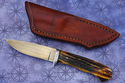 Damascus Jigged Bone Hunter