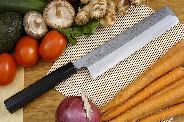 Kansui Suminagashi Right-Handed Usuba Hocho (Vegetable Knife) - 210mm