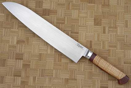 Stretch Santoku with Curly Maple and Amboyna Burl