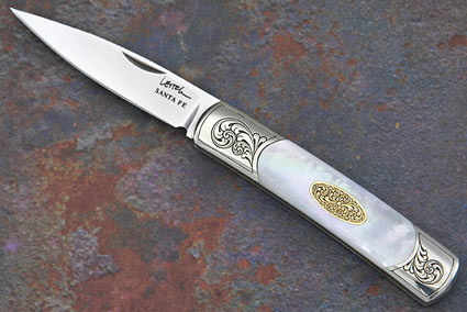 Acero with Mother of Pearl and Gold with Scroll Engraving