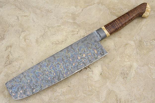 Vegetable Knife - Nakiri (7 3/4 in) with Curly Koa and Box Elder