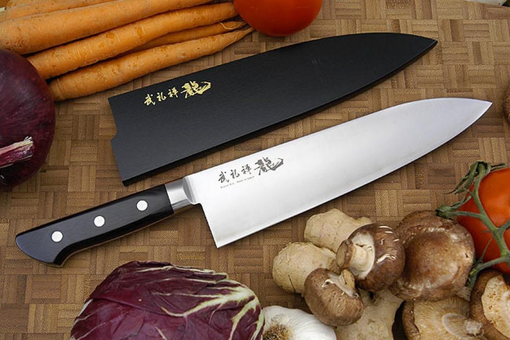 Bu-Rei-Zen (Blazen) Chef's Knife, Heavy - Gyuto Deba - 8 1/4 in. (210mm)