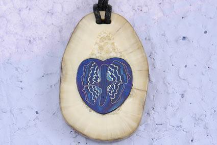 Walrus Butterfly Heart Pendant