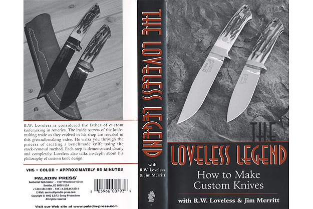 The Loveless Legend: How to Make Custom Knives with R.W. Loveless and Jim Merritt (VHS)