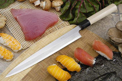 Tadafusa Shirogami Professional Left-Handed Sashimi Hocho - 9 1/2 in. (240mm)