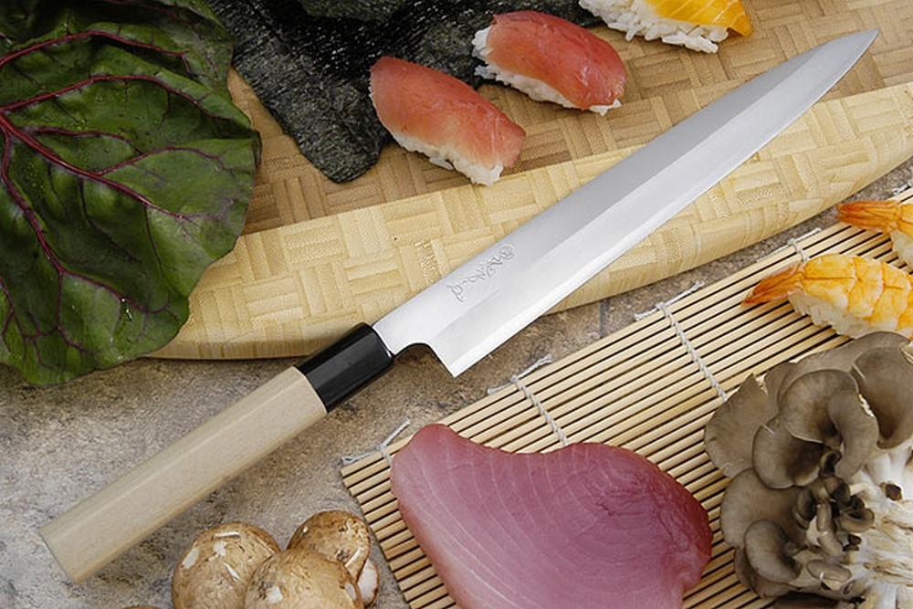 Tadafusa Shirogami Professional Right-Handed Sashimi Hocho - 9 1/2 in. (240mm)