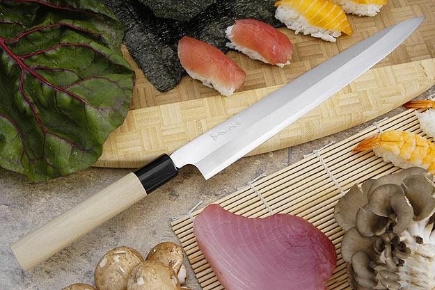 Tadafusa Shirogami Professional Right-Handed Sashimi Hocho - 10 2/3 in. (270mm)