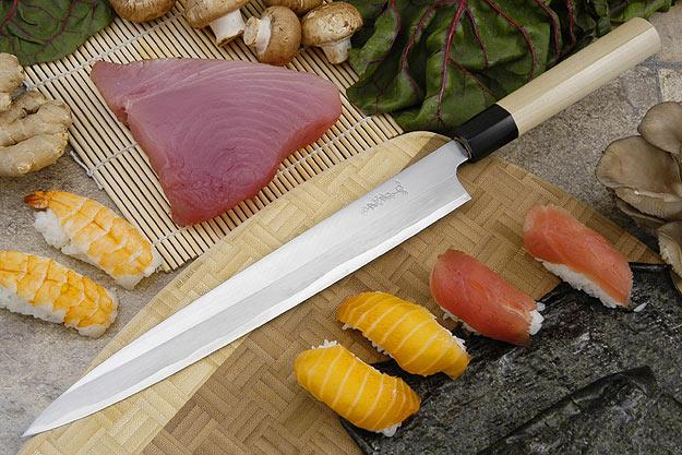 Tadafusa Shirogami Professional Left-Handed Sashimi Hocho - 10 2/3 in. (270mm)