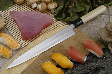 Tadafusa Aogami Professional Left-Handed Sashimi Hocho - 9 1/2 in. (240mm)