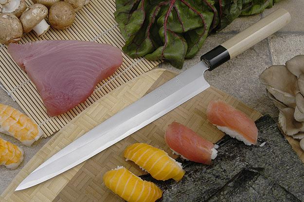 Tadafusa Aogami Professional Left-Handed Sashimi Hocho - 10 2/3 in. (270mm)