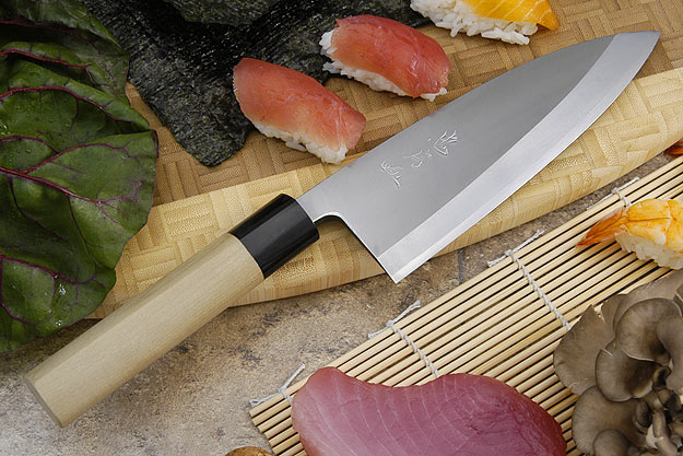 Tadafusa Aogami Professional Right-Handed Deba - 7 1/8 in. (180mm)