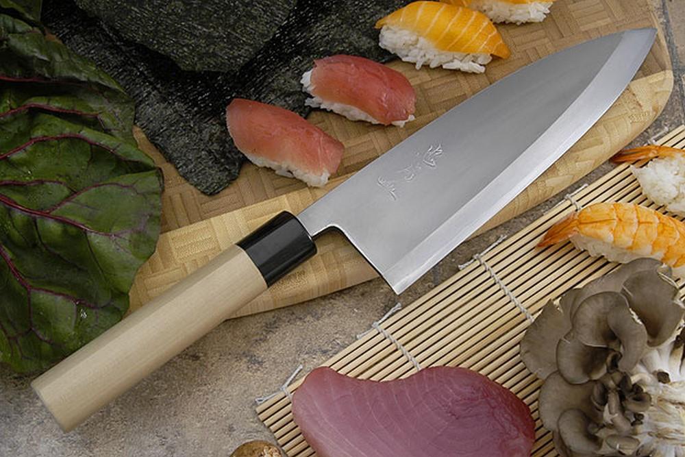 Tadafusa Aogami Professional Right-Handed Deba - 8 1/4 in. (210mm)