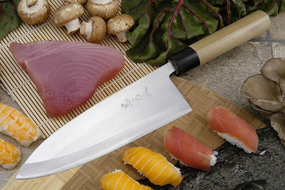 Tadafusa Aogami Professional Left-Handed Deba - 8 1/4 in. (210mm)