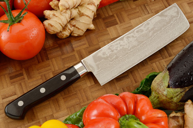 RyuSen Damascus Chef's Knife - Nakiri - 6 1/2 in. (165mm)