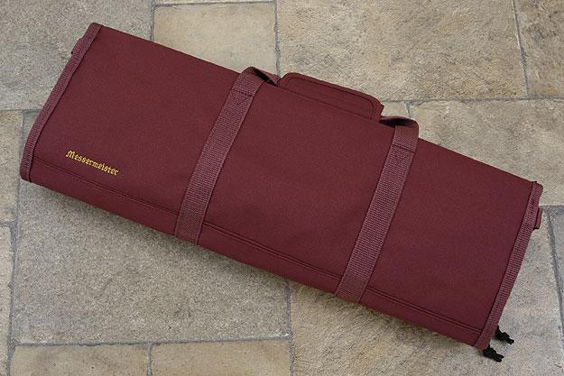 12 Pocket Knife Roll, Burgundy (2066-12/BU)