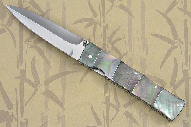 Blacklip Bamboo Folding Dagger