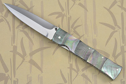 Blacklip Bamboo Folding Dagger