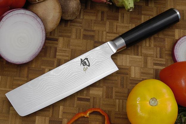 Shun Classic Chef's Knife/Vegetable Cleaver - Nakiri - 6 1/2 in. - Left Handed (DM0728L)