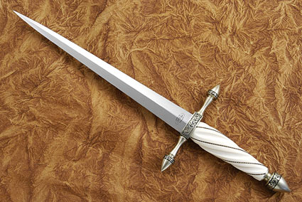Fluted Ivory Dagger