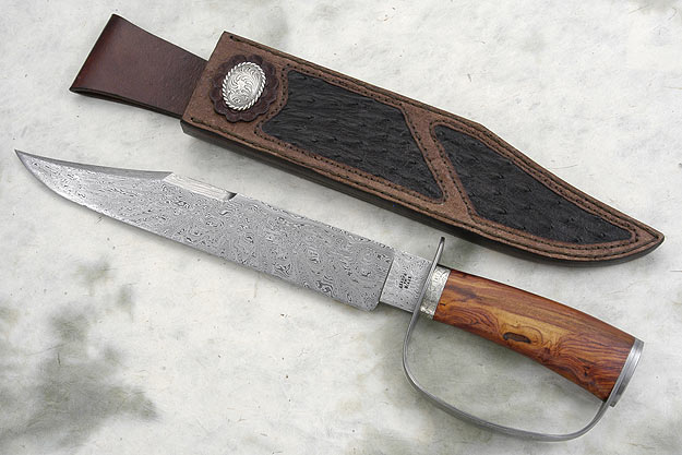 Damascus Fighting Bowie<br>Best Historical Knife - 2008 Southern Africa Knifemakers' Guild Show