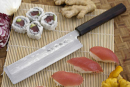Suminagashi Usuba (Vegetable Cleaver), 180mm (7 1/8 in), Left Handed