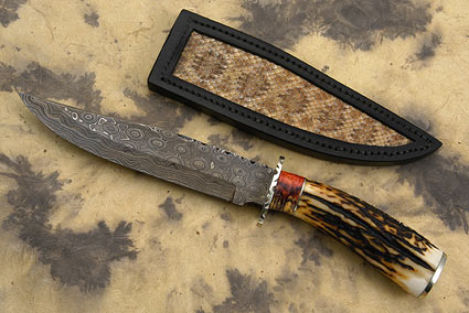 Stag Damascus Bowie