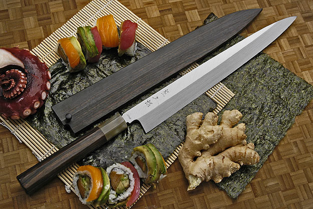 Honyaki Yanagiba, 300mm (11 3/4 in) with Saya