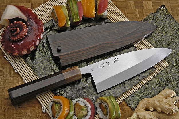 Honyaki Deba, 165mm (6 1/2 in) with Saya