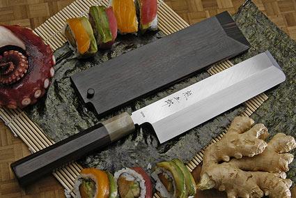 Honyaki Usuba, 180mm (7 1/8 in) with Saya