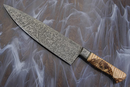 Chef's Knife with Curly Maple and Maple Burl (9 3/4 in.)
