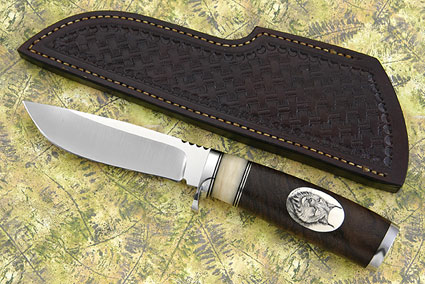 Canadian Hunter with Walnut and Lynx Scrimshaw