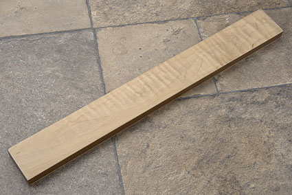 Curly Maple Magnetic Knife Strip (16