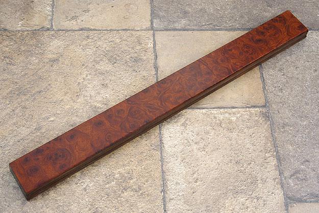 Amboyna Burl Magnetic Knife Strip (18