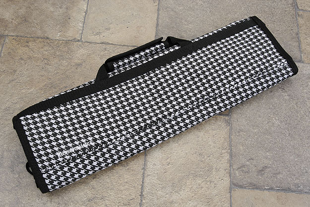 8 Pocket Knife Roll, Black & White Houndstooth (2066-8/HT)