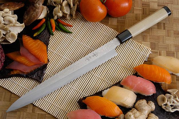 Suminagashi Left-Handed Yanagiba (Sashimi Knife) - 270mm (10 2/3 in.)