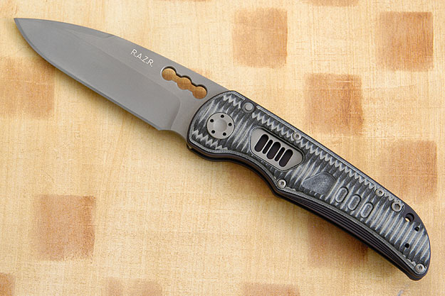 R.A.Z.R. with Black & Gray Grooved G10