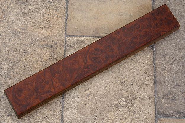 Amboyna Burl Magnetic Knife Strip (12