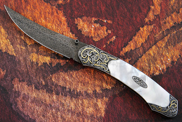 Engraved Persian Folder with Mother of Pearl