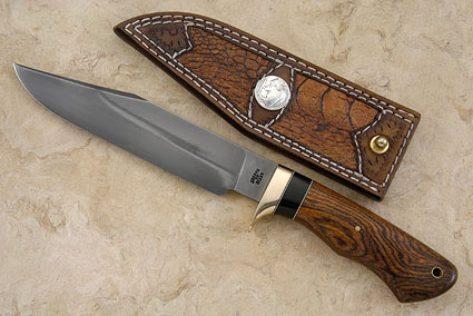 Bowie Style Camp Knife with Bocote