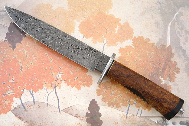 Damascus Gents Bowie (Master Smith Test Knife)