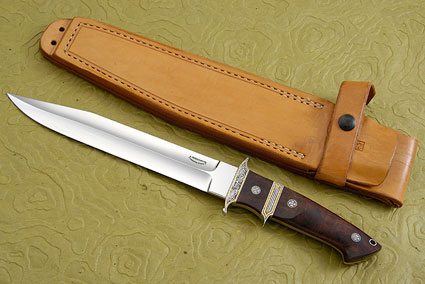 Engraved Big Bear Subhilt Fighter With Ironwood